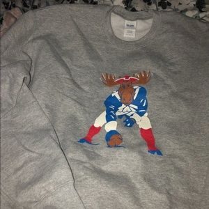 New England Patriot Moose Sweatshirt